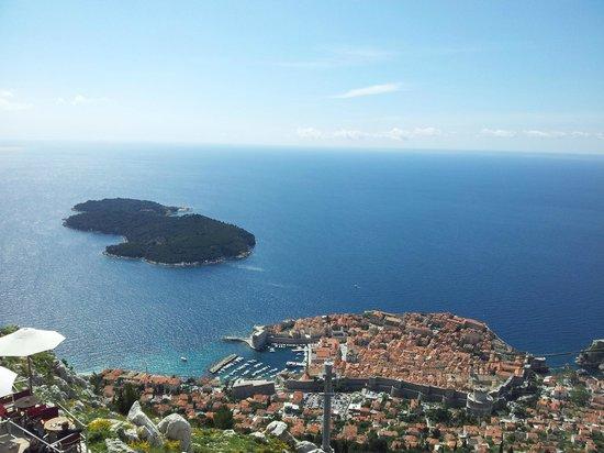 Funiculaire de Dubrovnik : Utsikt vest