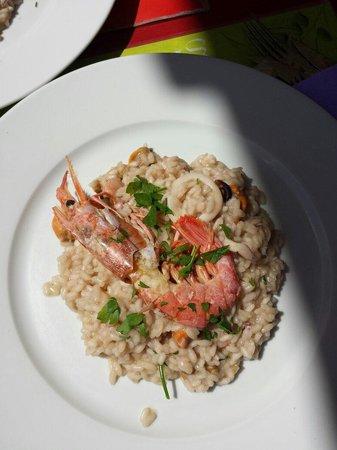Il Chiringo: El mejor Risotto que he probado !!!!  INCREÍBLE Ya estaba enamorada del lugar y la cocina pero e
