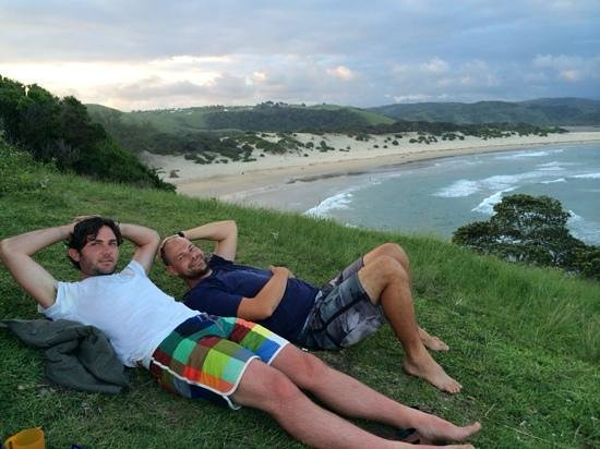 The perfect sunset/sunrise picnic spot, while looking at the waves with the dolphins and whales