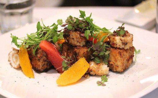 221 Restaurant & Bar: Squid and pork belly