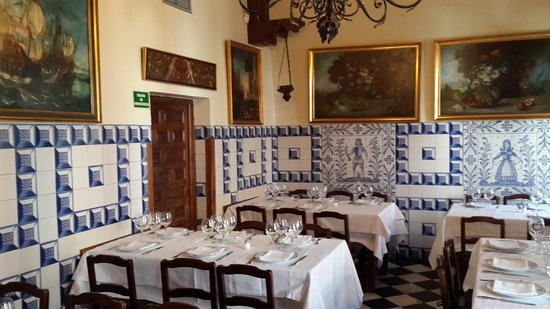 Insider's Madrid: The top floor dining room where we had our lunch.
