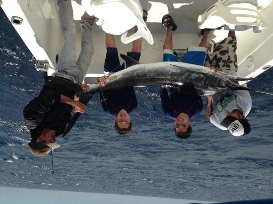 Hotel Riu Santa Fe: Kids marlin fishing aboard the Gaviota with Capt. Cesar