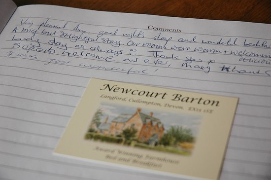 Newcourt Barton: Guests comments
