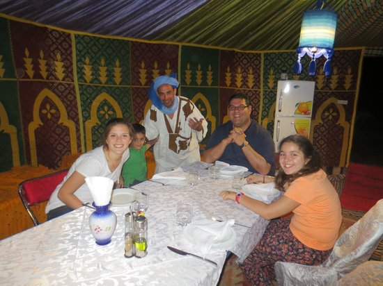 Morocco Discovery Holidays: dinner at camp