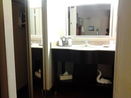 Hampton Inn Dalton: sink area