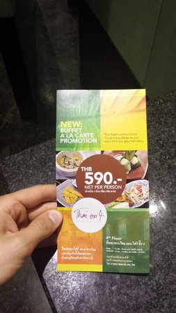 Thai on 4: 590 Baht all you can eat with amazing quality food