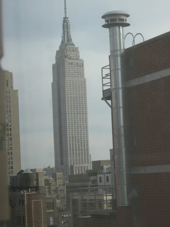 "Distrikt Hotel: looking left out out window "" Empire state Building"""