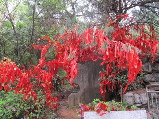 Guilin Yaoshan Mountain Scenic Resort: Ribbons on Trees