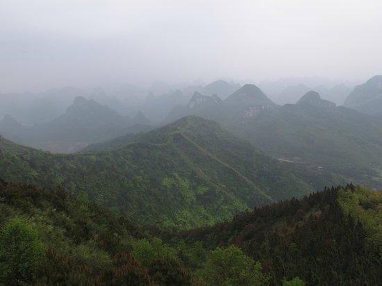 Guilin Yaoshan Mountain Scenic Resort: View from Mountain