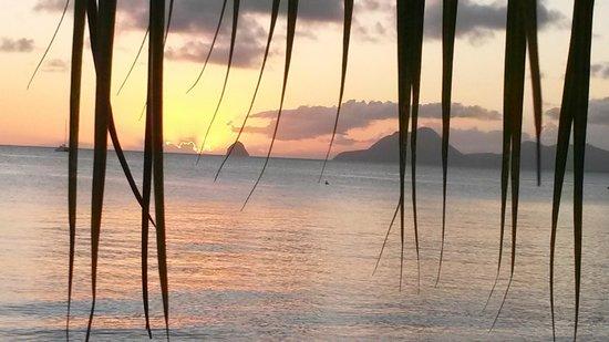 Délices Caraïbes : Vue du resto le soir !