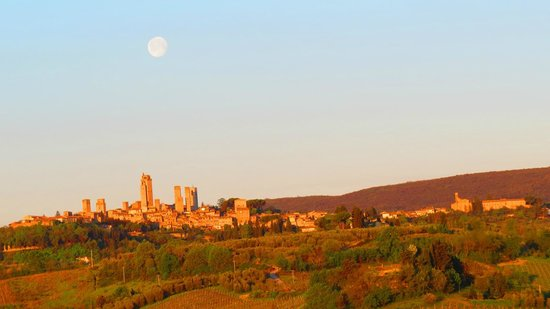 Agriturismo La Lucciolaia: View of San Gimignano in the morning from Albicocca room