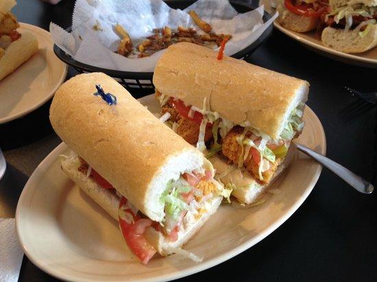 Mahony's Po-Boy Shop: Large Fried Shrimp Po-Boy