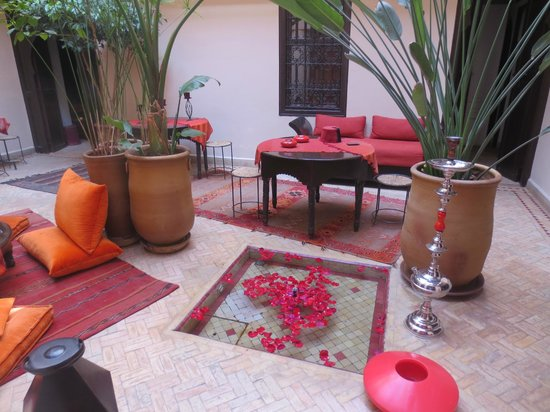 Riad Boussa: wonderful courtyard