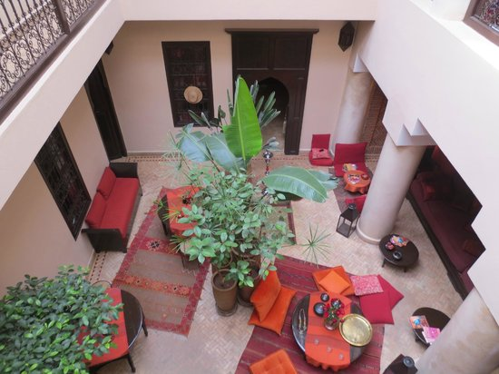 Riad Boussa: view from upstairs rooms