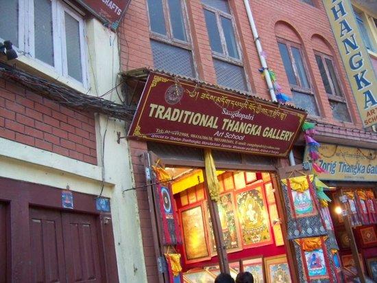 Stûpa de Bodnath : Thangka Shop