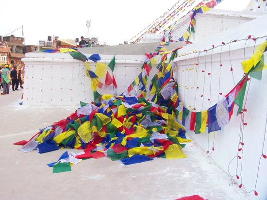Stûpa de Bodnath : Prayer Flags