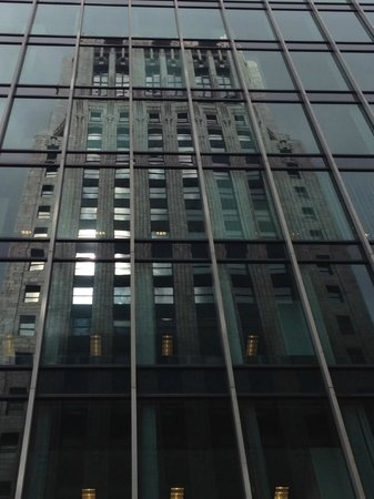 San Francisco Architecture Walking Tour: Reflection of old in new (Crown Zellerbach)
