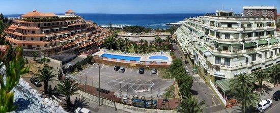 Gran Hotel Turquesa Playa: Vue de la terrasse, idem de la chambre.