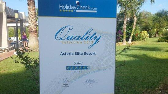 Asteria Elita Resort: Рейтинг отеля