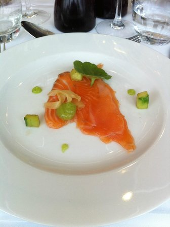 Rastella Restaurant: Cured salmon starter - smaller than it looked here.