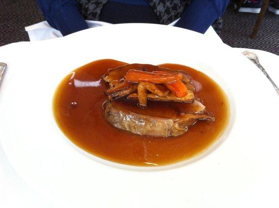Rastella Restaurant: The inedibly tough slab of lamb.