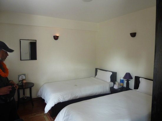 Thamel Eco Resort: Clean but basic twin room