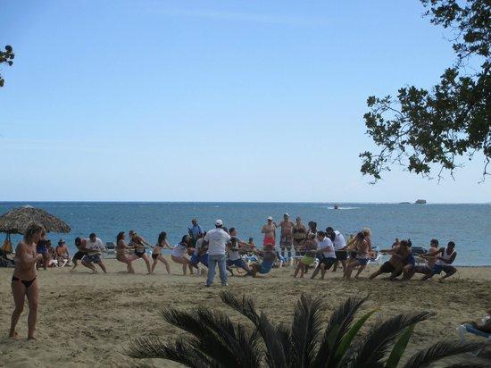 BlueBay Villas Doradas Adults Only: Olympics Tug o' War on the Beach
