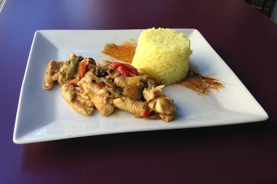 Café Gecko : Emincés de poulet à la provençale et riz citronné
