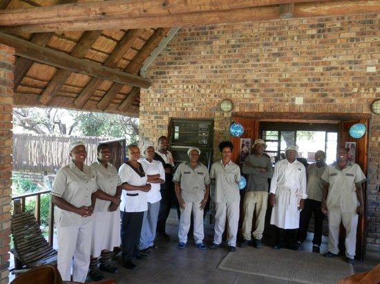 Gomo Gomo Game Lodge: Household staff singing Happy Birthday