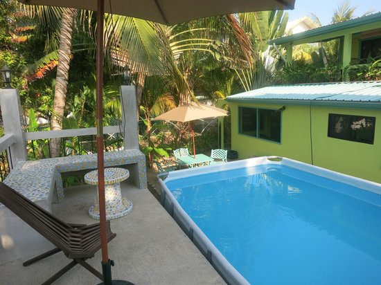 Casa Placencia Belize: The pool was perfect for late afternoon after the beach. Beautiful with Jacki's mosaics.