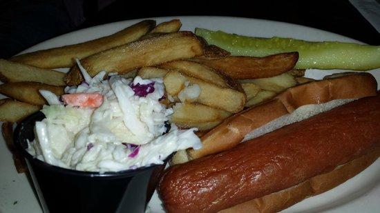 Brick Alley Pub : Giant Hot Dog
