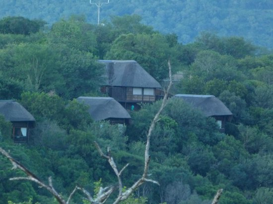 Mkuze Falls Game Lodge: View of the lodge and chalets