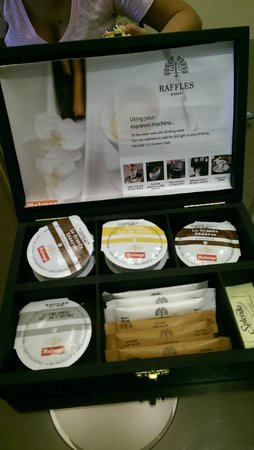 Raffles Makati: espresso pods