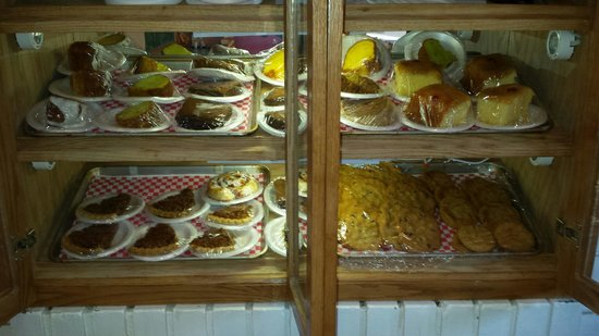 Black Bear Cafe: Delicious homemade desserts made fresh!!! Pies and Cakes are $3.29 a piece.