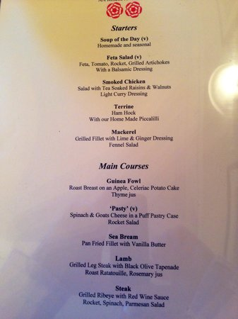 Best Western Henbury Lodge Hotel: Starters and mains