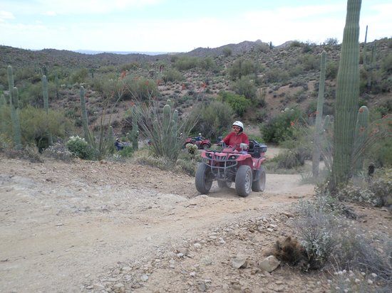 Arizona ATV Adventures: The toughest hill (passengers had to walk up)