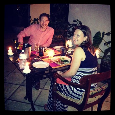 The Kandy House: Dinner on our Veranda