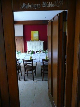 Gasthaus Ambringer Bad : Ambringer Bad gemütliche Stube für Anlässe