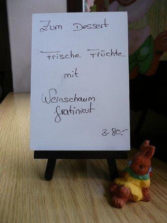 Gasthaus Ambringer Bad : Ambringer Bad Dessertempfehlung