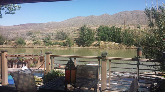 Riverbend Hot Springs: view from the deck