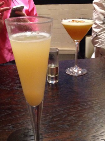 59 New Street: Peach Bellini and Porn Star cocktail