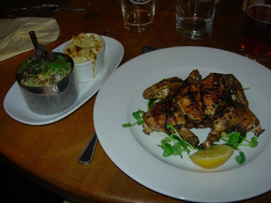 The Bugle Inn: Chargrilled spatchcock poussin