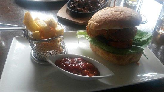 The Rams Head Inn: Pheasant and Pork burger