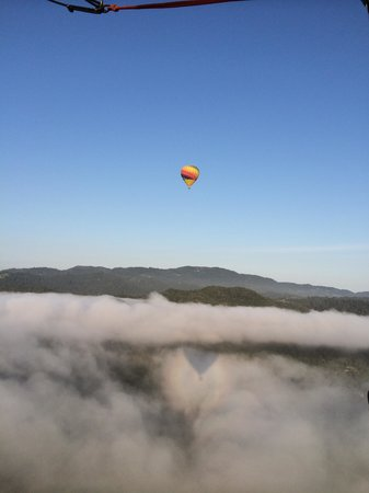 Balloons Above the Valley: Balloon with ground fog