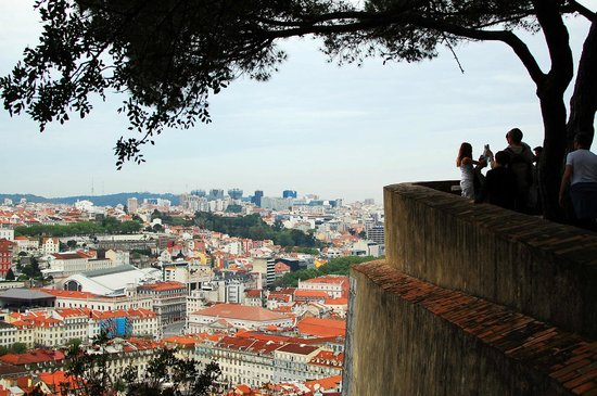 Castelo de Sao Jorge : La vista desde el Castillo.