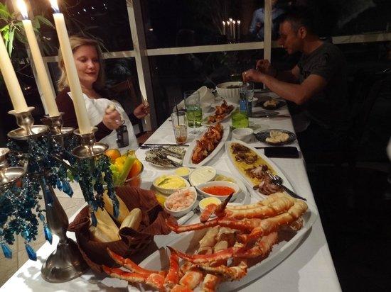 Mary-Ann's Polarrigg: Seafood dinner