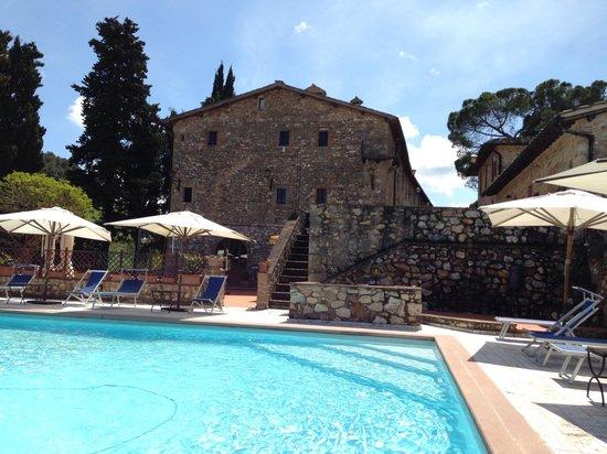 Borgo Il Poggiaccio: Piscina di fronte al ristorante