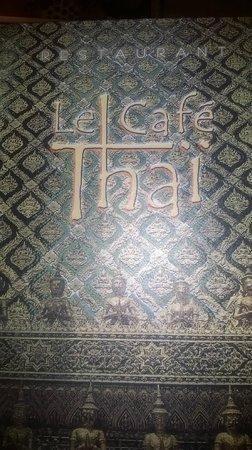 Le Café Thaï : Carte du Café Thai