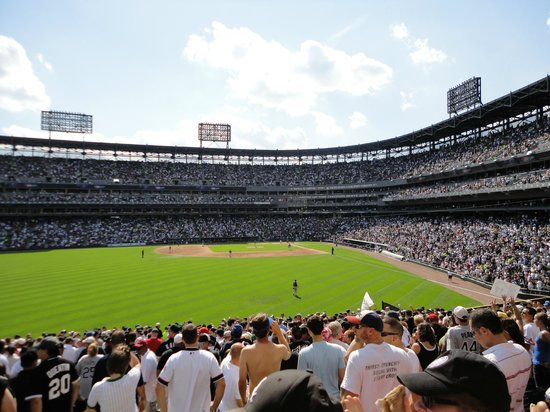 US Cellular Field: View from outfield seats during Cubs/Sox game