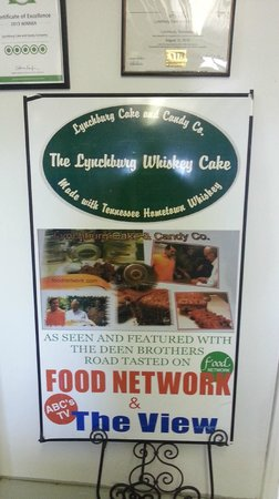 Lynchburg Cake and Candy Company: Featured on Food Network and The View